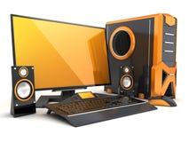 Computer orange Stock Photography