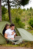 Computer Outdoor Tent Stock Photos