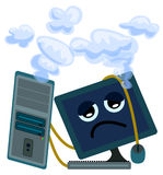 Computer overworked Stock Images