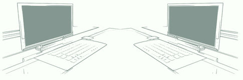 Computer-Paare Stockfoto