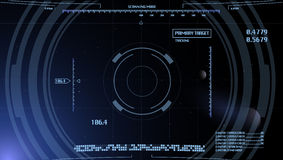 Computer panel background. Futuristic vector computer background for space video game (eps 10 Royalty Free Stock Photography