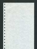 Computer paper. Blank perforated computer paper over black background Stock Images