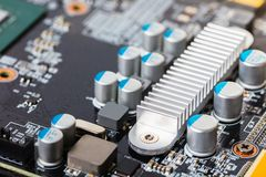Computer part close-up board Stock Images