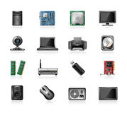 Computer part icons Royalty Free Stock Photos