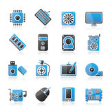 Computer part icons Royalty Free Stock Images