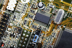 Computer parts and chips Royalty Free Stock Photos