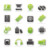 Computer Parts and Devices icons Royalty Free Stock Photos
