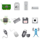 Computer parts and hardware Royalty Free Stock Photos