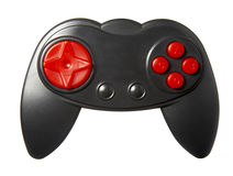 Computer parts new 1. Close up of gaming console on white background with clipping path Royalty Free Stock Image