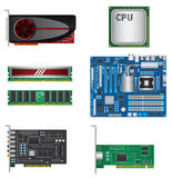Computer parts set Stock Photo