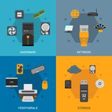 Computer Parts Set Stock Image