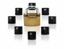 Computer password concept Royalty Free Stock Image
