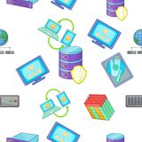 Computer pattern, cartoon style Royalty Free Stock Photos
