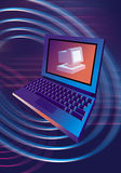 Computer PC laptop. Illustration Royalty Free Stock Image