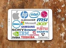 Computer (PC) merken en emblemen stock afbeeldingen