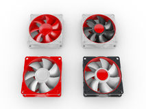 Computer performance cooling fans Royalty Free Stock Images