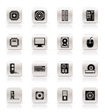 Computer  performance and equipment icons Stock Photography