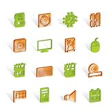 Computer  performance and equipment icons -  Stock Image