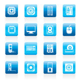 Computer  performance and equipment icons Royalty Free Stock Image
