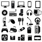 Computer peripheral icon Royalty Free Stock Images