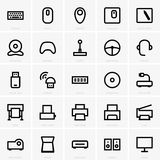 Computer peripheral icons Royalty Free Stock Photography