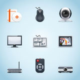 Computer peripherals icons Royalty Free Stock Image