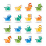 Computer and Phone Icons Royalty Free Stock Photo