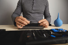 Computer and phone repairment service Royalty Free Stock Photos