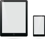 Computer phone tablet with blank white screen Royalty Free Stock Image