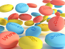 Computer pills 3 Stock Images