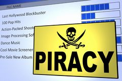 Computer Piracy royalty free stock photo