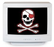 Computer Pirate Royalty Free Stock Images