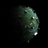Computer Planet. Futuristic computer planet IT background Stock Image