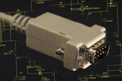 Computer plug Stock Photo