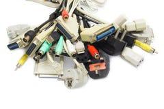 Computer Plugs. Stock Photography