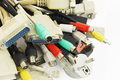 Computer Plugs. Royalty Free Stock Images