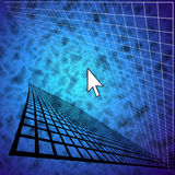Computer Pointer in abstract Stock Images