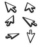Computer pointer arrow Stock Photos