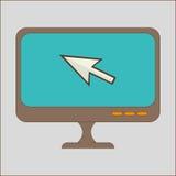 Computer pointer arrow. Technology graphic design, vector illustration Stock Image