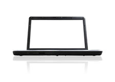 Computer portatile aperto Fotografie Stock