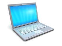 Computer portatile bianco Fotografie Stock