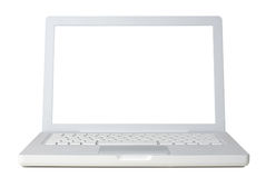 Computer portatile bianco Immagini Stock