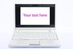 Computer portatile bianco Fotografia Stock Libera da Diritti
