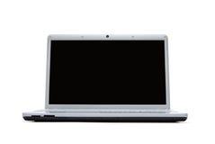 Computer portatile in bianco con il percorso di residuo della potatura meccanica Fotografia Stock Libera da Diritti