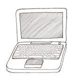 Computer portatile in bianco e nero Immagini Stock