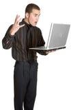 Computer portatile Businesman Fotografia Stock Libera da Diritti