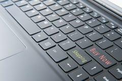 Computer portatile con il modo di touch screen Fotografie Stock