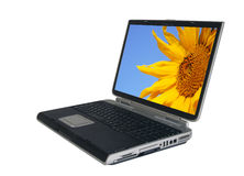 Computer portatile con il percorso Fotografia Stock Libera da Diritti