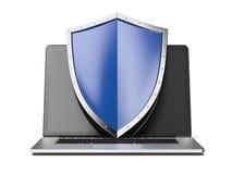Computer portatile con lo schermo Fotografia Stock