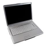 Computer portatile con lo schermo in bianco Fotografia Stock Libera da Diritti